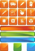 медицинские икона set — Cтоковый вектор