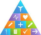 Healthcare Pyramid - Simple — Stock Vector