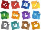 Healthcare Sticker — Stock Vector
