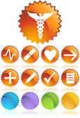 Medische pictogrammen - zegel — Stockvector