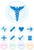 Medische pictogrammen - ronde — Stockvector