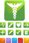 Medical Icons - Square — Stock Vector