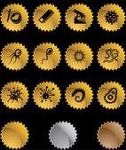 Microscopic Icons — Stock Vector