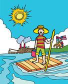 Kid Adventures: Summer in Mississippi — Stock Vector