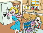 Mauvaise journée pour maman — Vecteur