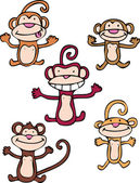 Cheeky Monkeys — Stockvector