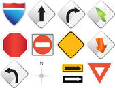 Road Navigation Icons — Vector de stock