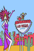 Welcome to Vegas — Stock Vector