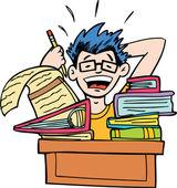 没有更多的家庭作业 — 图库矢量图片