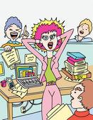 Office distraktioner — Stockvektor