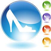 Open Toe Shoe — Stock Vector