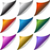 Conjunto de ondulação de página — Vetor de Stock
