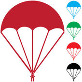 Set of Paratroopers — Vector de stock
