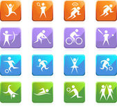 Athlete Icons — Stock Vector