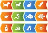 ícones do animal de estimação — Vetorial Stock