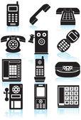 Telefoni icone — Vettoriale Stock
