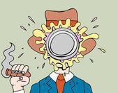 Pie in Face — Stock Vector