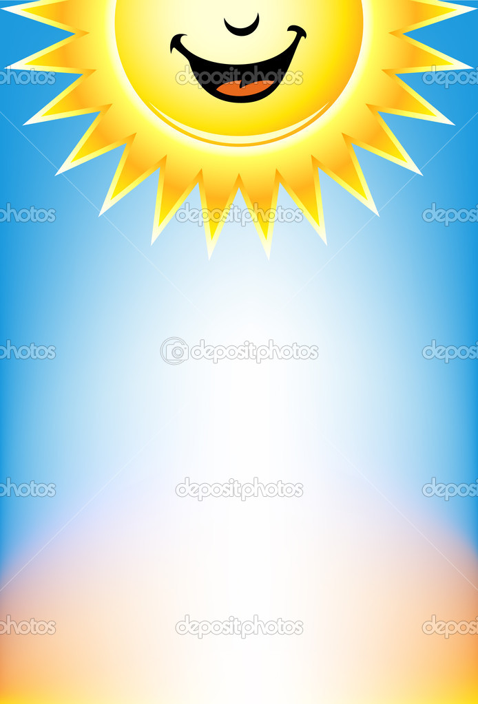 A sunshine themed blank signage. — Stock Vector #3983217