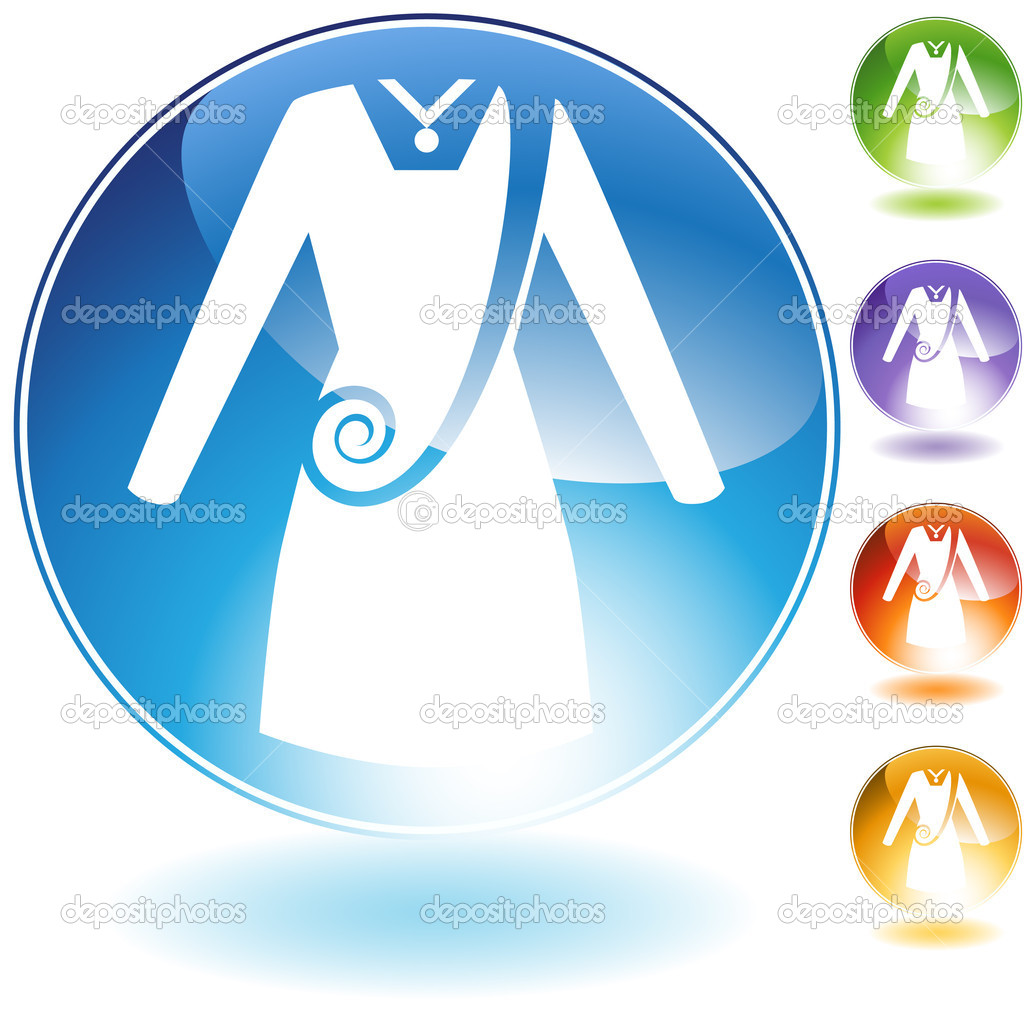 Swirl dress crystal icon isolated on a white background. — Stock Vector #3983269
