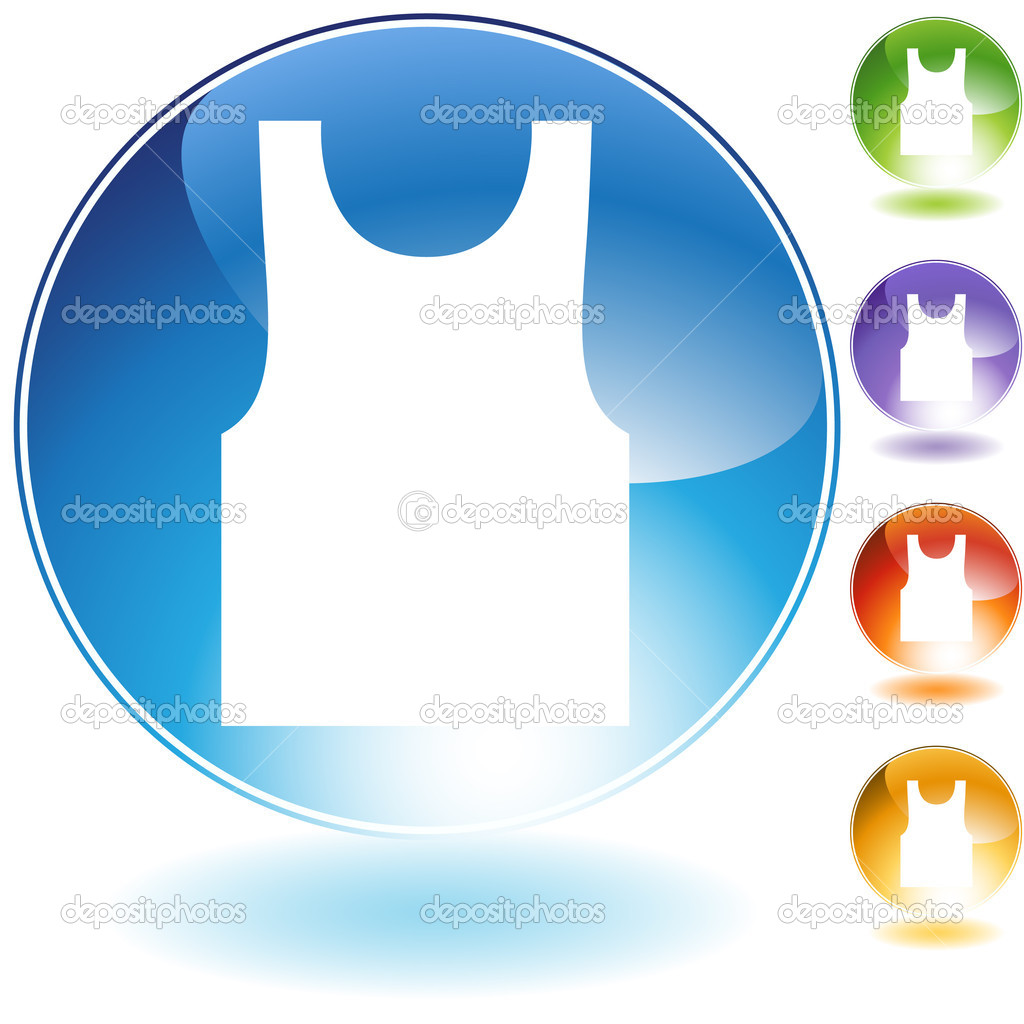 Tanktop crystal icon isolated on a white background. — Stock Vector #3983304