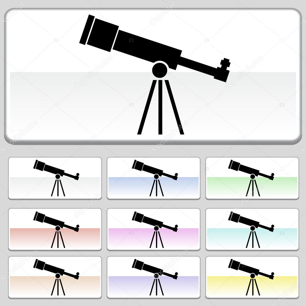 An image of a telescope. — Stock Vector #3983365