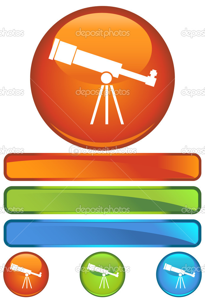 An image of a telescope. — Stock Vector #3983367