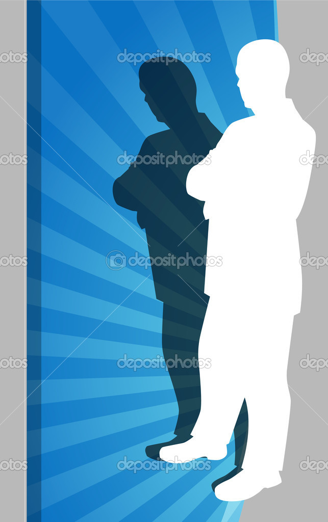 An image of a Businessman Observing. — Stock Vector #3983992