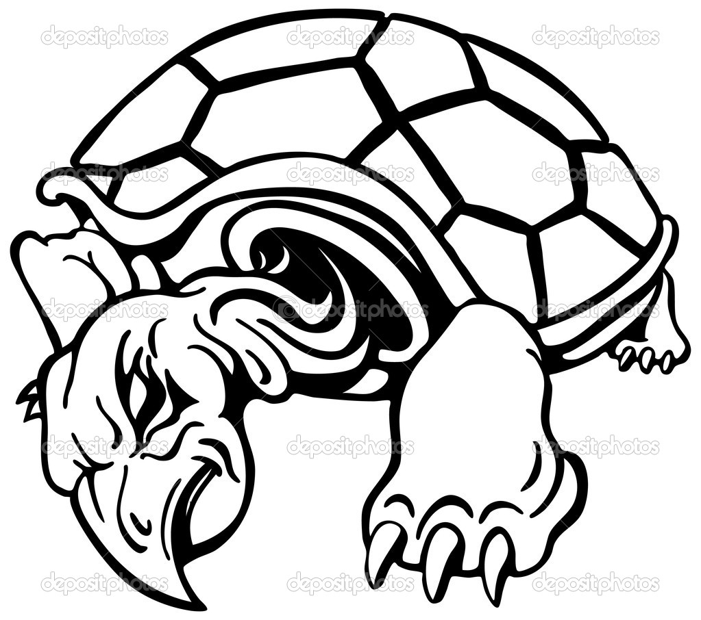 An image of an angry turtle.  Stock Vector #3984398