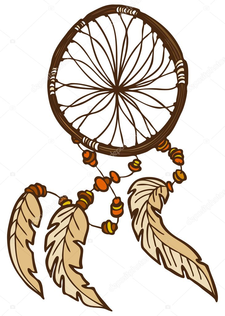 An image of a dreamcatcher. — Stock Vector #3984452