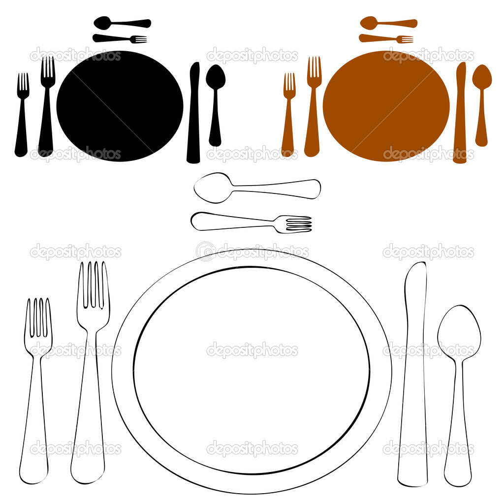 Formal place setting stock vector cteconsulting 3984700 for Place setting images