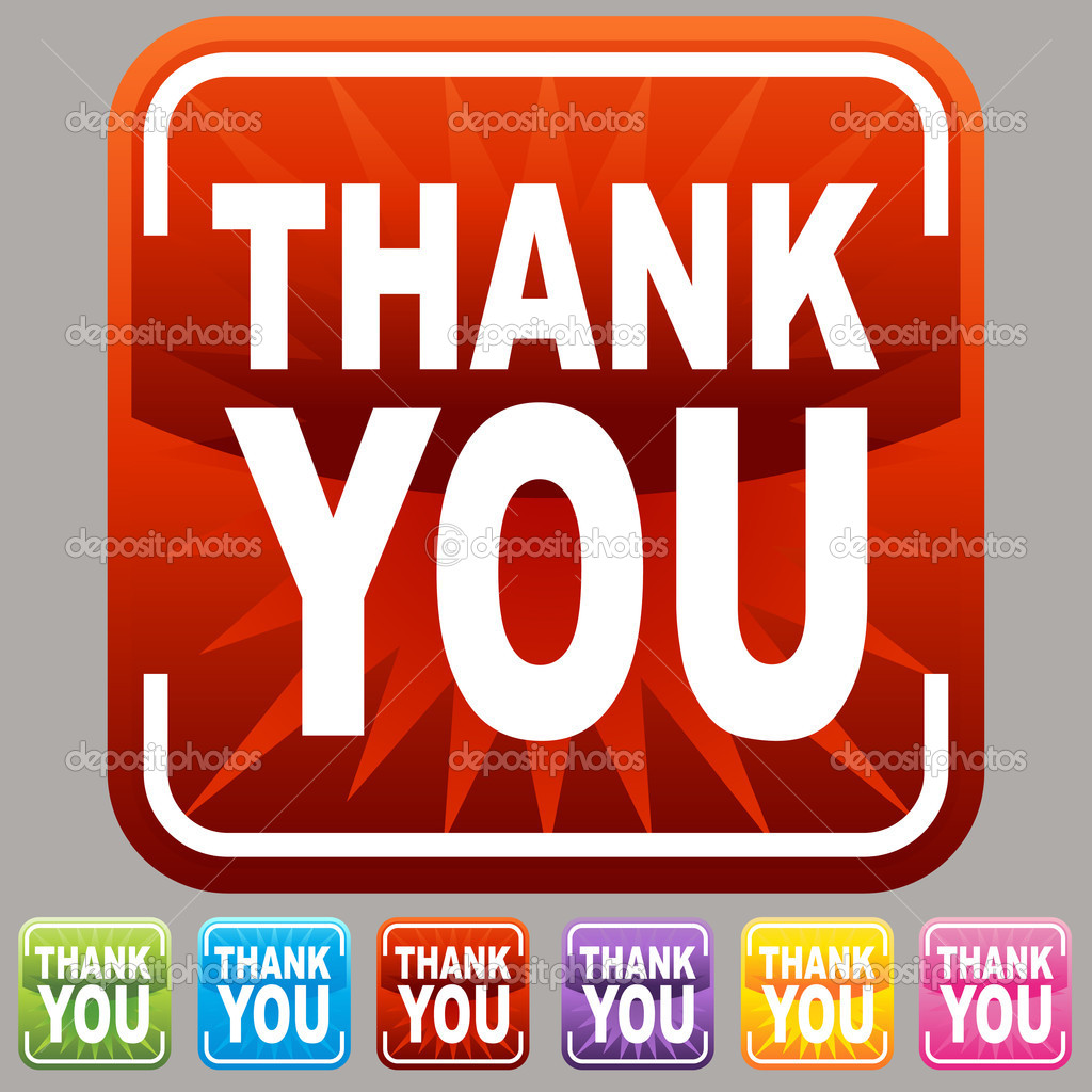 An image of a thank you buttons. — Stock Vector #3984788