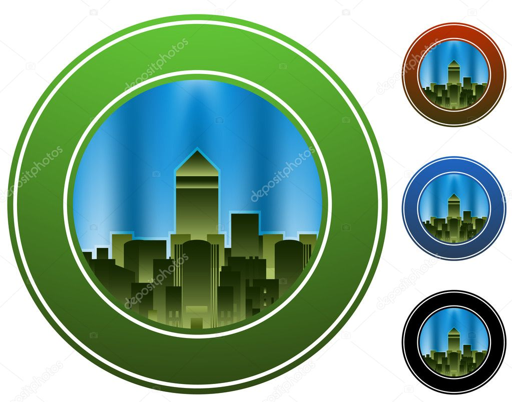 An image of a city circle. — Stock Vector #3984818