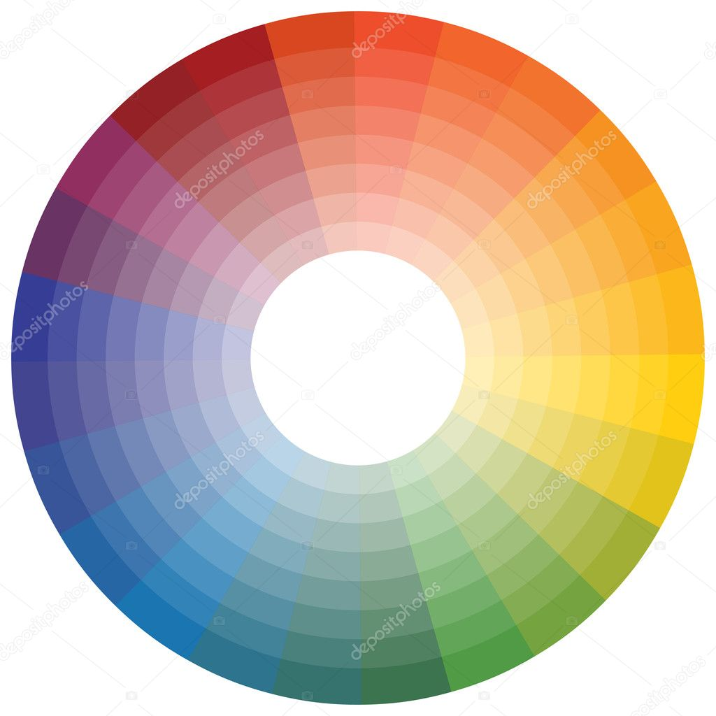 An image of a color wheel.  Stock Vector #3984925