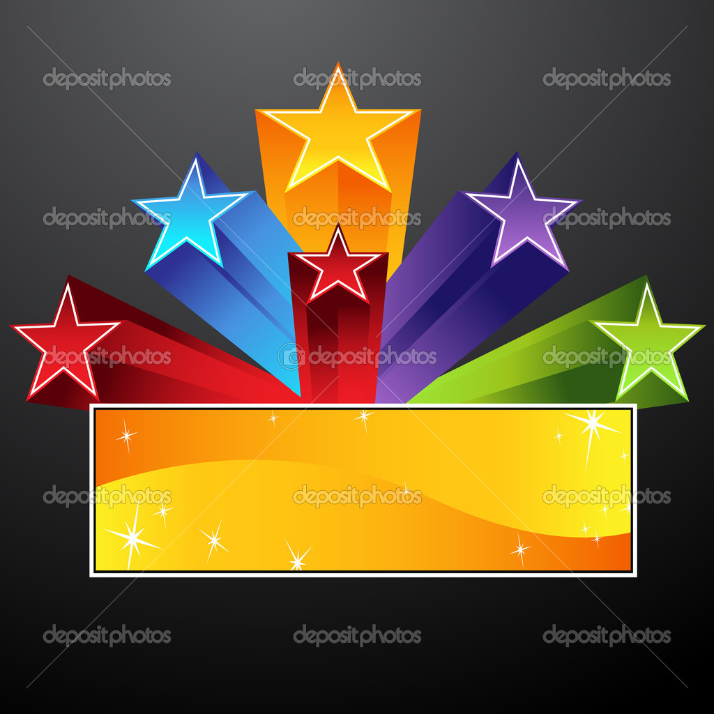 An image of a shooting star banner. — Stok Vektör #3984936