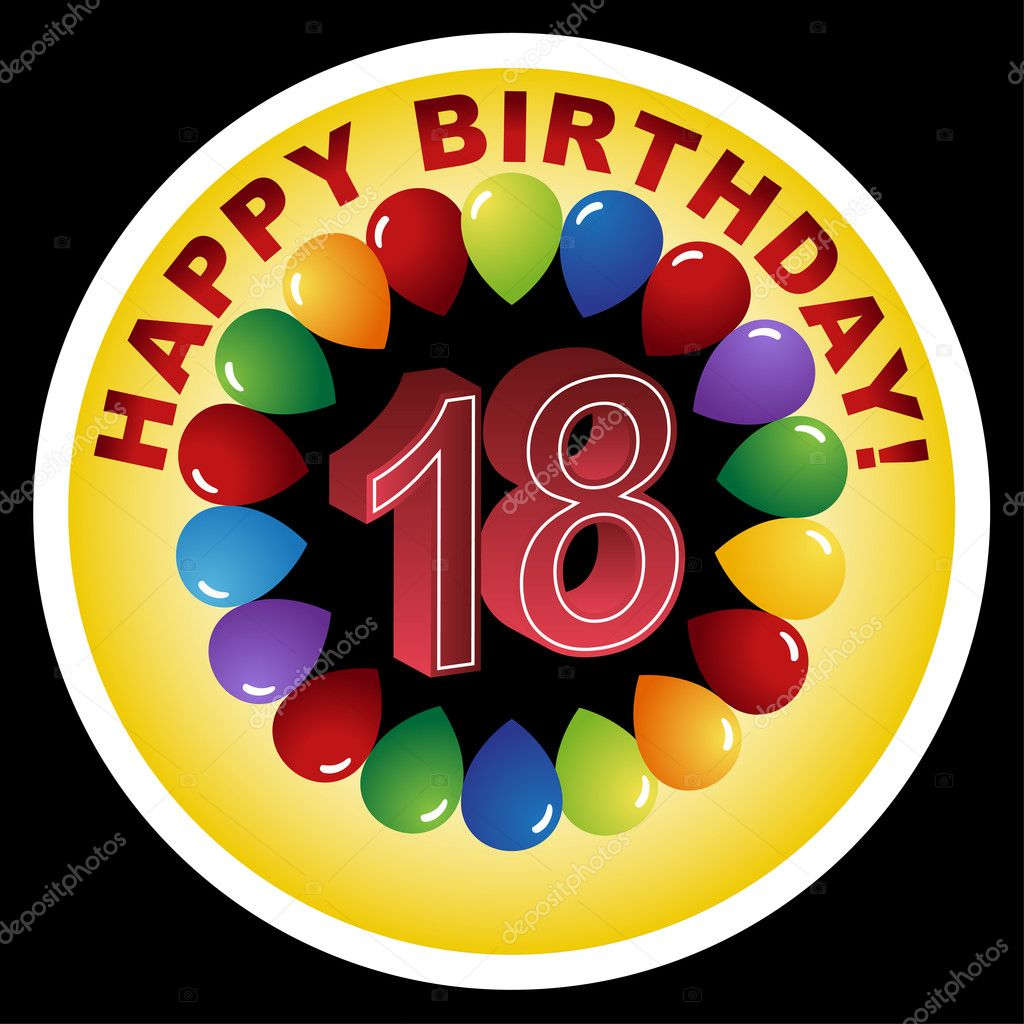 18th Birthday Clip Art http://depositphotos.com/3985383/stock-illustration-Happy-Birthday-Icon---Happy-18th.html