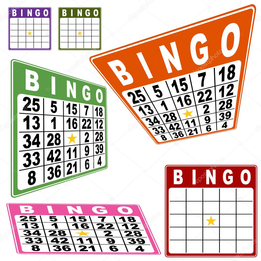 Bingo card set isolated on a white background. — Stock Vector #3985612