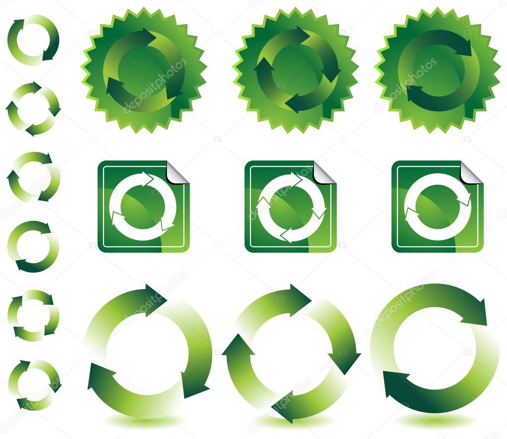 A set of recycling icons. — Stock Vector #3986989