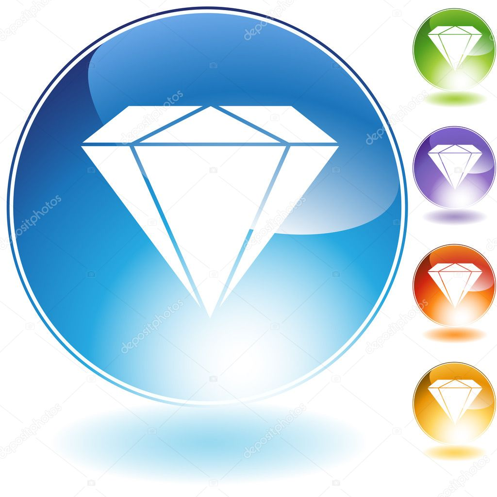 An image of a diamond.  Stock Vector #3987113