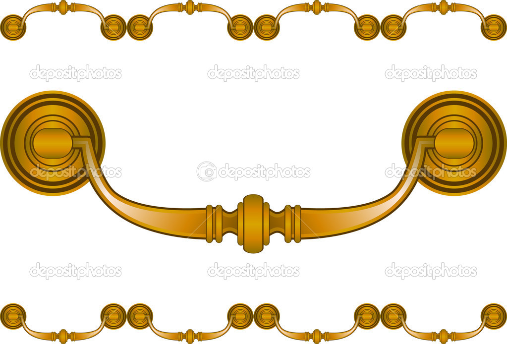 An icon of a drawer handle.  Stock Vector #3987241