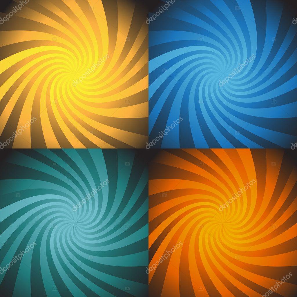 4 能量螺旋爆发的设置 — 图库矢量图片 #3987501