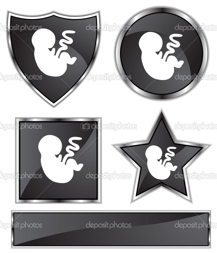 An image of a growing fetus.  Stock Vector #3987660