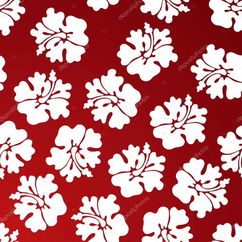 Hibiscus Pattern — Stock Vector © John Takai #