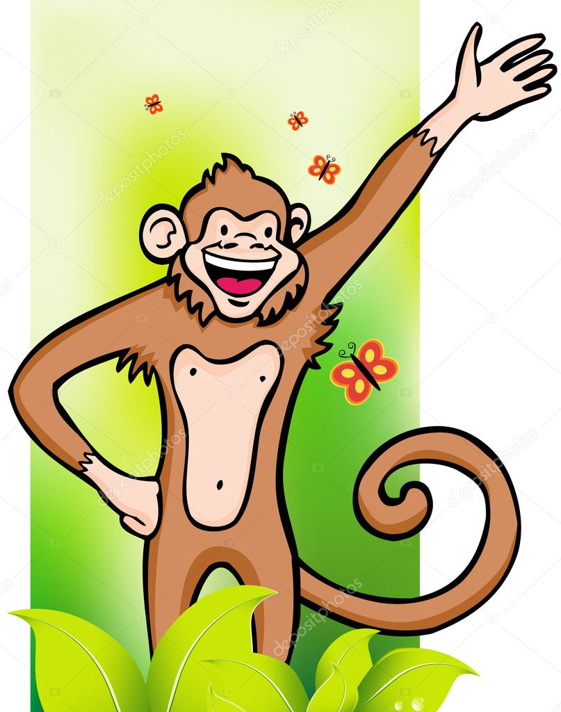 An image of a monkey. — Stock Vector #3988997