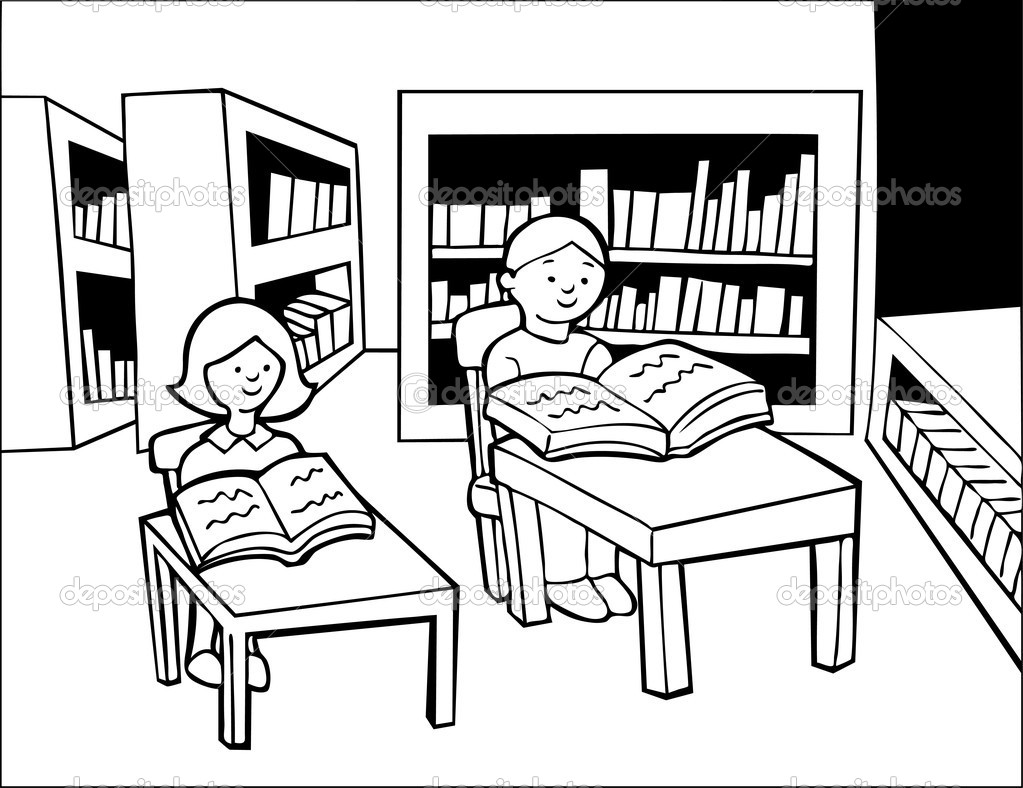 Quiet Reading Clipart
