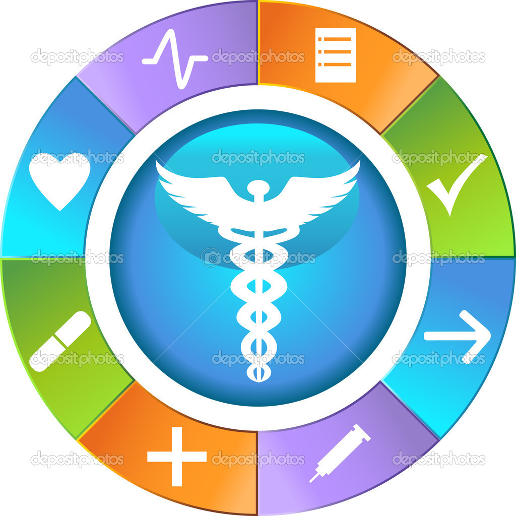 Set of 9 Healthcare Icons - wheel. — Stok Vektör #3989419