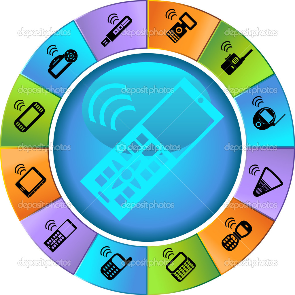 An image of wireless electronic devices. — Stock Vector #3989543