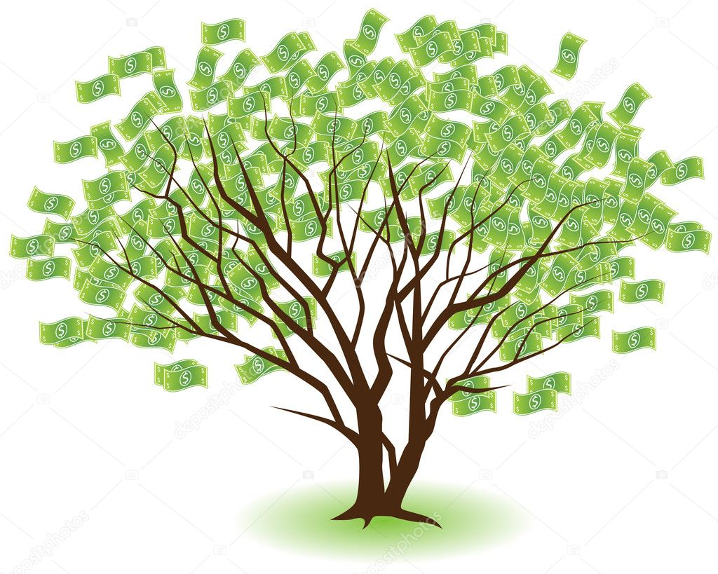 An image of a money tree. — Stock Vector #3989572