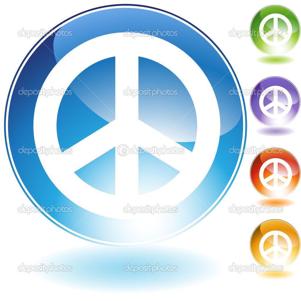 An image of a peace sign.  Stok Vektr #3989866