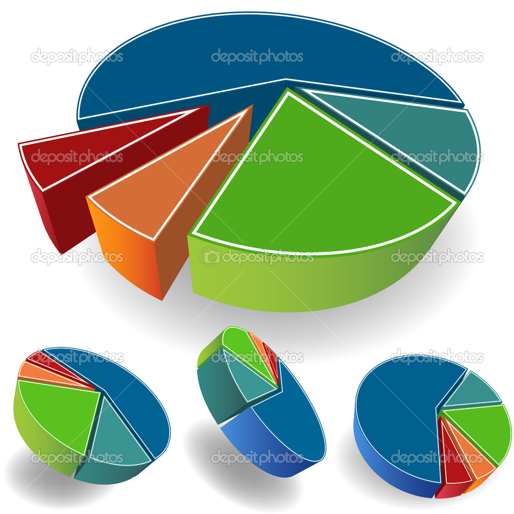 An image of a 3D business pie chart. — Stock Vector #3989954