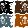Stock Vector: Pirate Flags